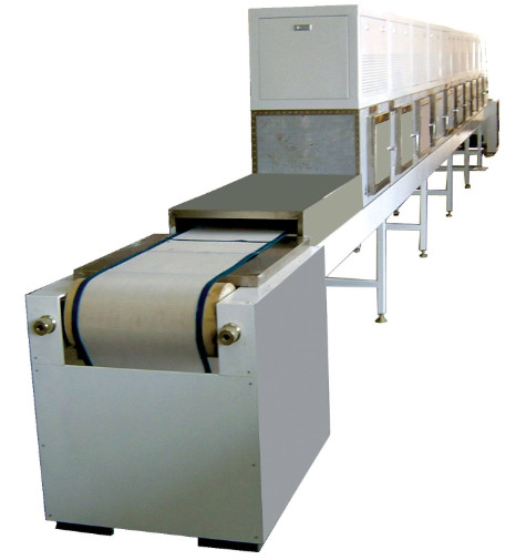 Application of microwave tunnel defrosting machine