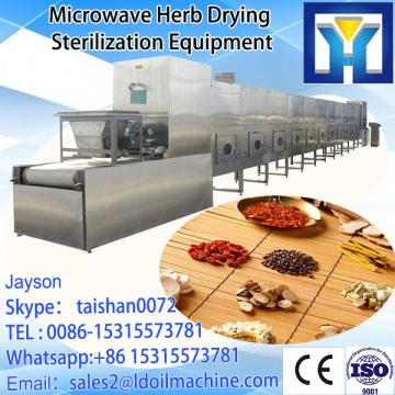 Tunnel microwave drying and sterilizing oven for