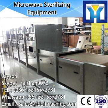 Industrial tunnel type microwave dryer and sterilizer machine for gelatin