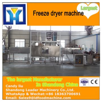 Industrial lyophilizer freeze drying flowers