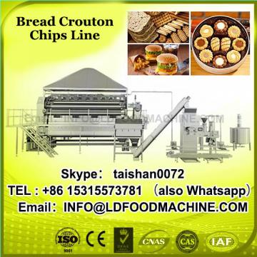High-value extruded savory croutons/bread rusks production line