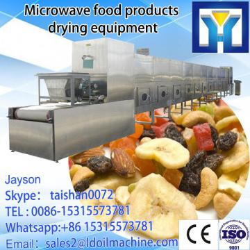 Conveyor belt microwave drying and roasting machine for beans